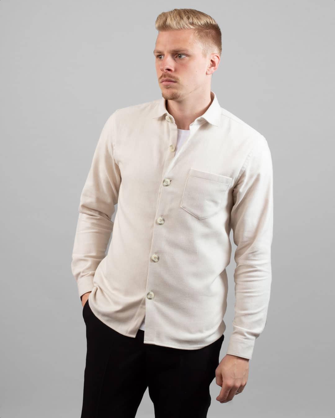 Elia overshirt – Mojave beige